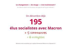 Déjà 195 élus socialistes se sont ralliés à Emmanuel Macron