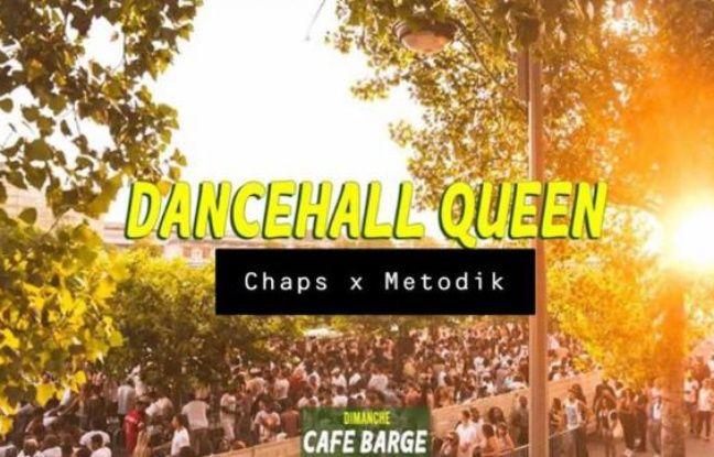Vue sur le Café Barge lors d'une soirée Dancehall Queen