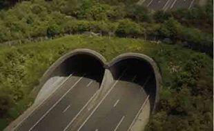 Un écopont sur une autoroute française.