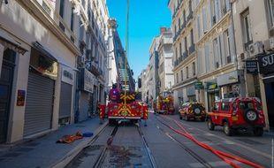 Un incendie a frappé le 205 rue de Rome à Marseille