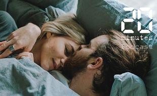 Illustration d'un couple dans un lit