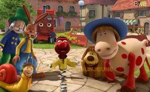 Capture d'écran de l'épisode du Manège Enchanté traduit en breton.