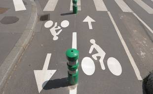Piste cyclable à Strasbourg. (Illustration)