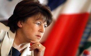Martine Aubry, début juin 2009.