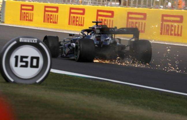 """Formule 1 : """"Je n'ai pas vu la crevaison venir"""", Hamilton l'emporte à Silverstone en finissant sur trois roues"""