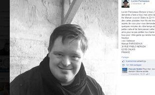 Capture d'écran Facebook du compte de Lucien Parisseaux.