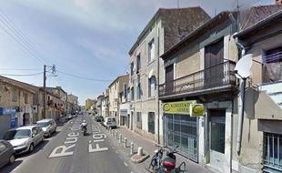 La rue du Faubourg Figuerolles à Montpellier.