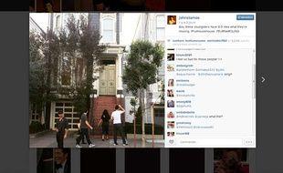 Capture d'écran d'une photo postée par l'acteur John Stamos sur Instagram, le 7 mars 2015.