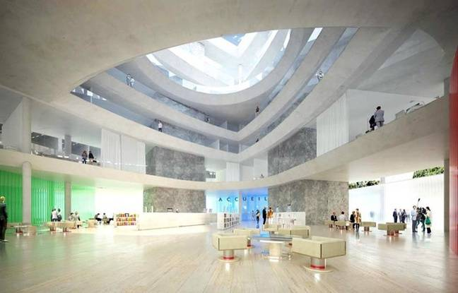 La salle des pas perdus du futur palais de justice de Lille.