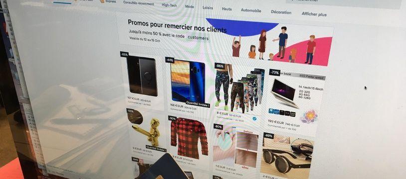 60 millions de consommateurs dénonce les pratiques commerciales douteuses de Wish. (illustration)