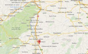 Google map d'Albon (Drôme)