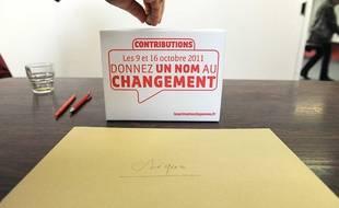 Une contribution de 1 euro minimum demandée aux votants de la primaire socialiste de 2011, à Melle le 9 octobre 2011.