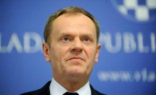 Le Président du Conseil européen Donald Tusk, lors d'une conférence de presse à Zagreb, le 2 mars 2016