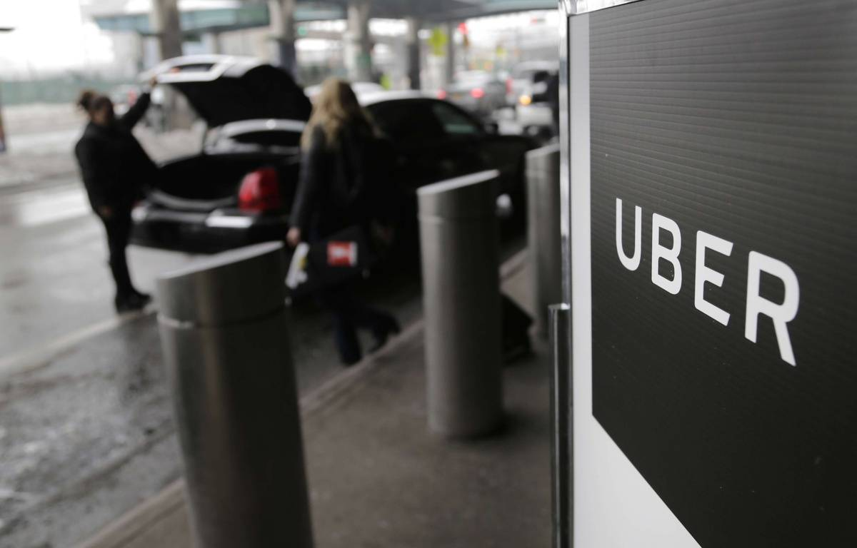 Illustration de la compagnie de VTC Uber. – Seth Wenig/AP/SIPA