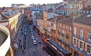 Vue du toit du parking Victor-Hugo, à Toulouse.