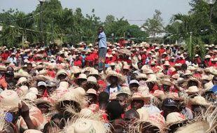 Manifestation des paysans haïtiens contre les semences Monsanto le 4 juin 2010.