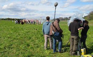 Sur le tournage de N'importe qui, le film de Rémi Gaillard, à Montpellier.