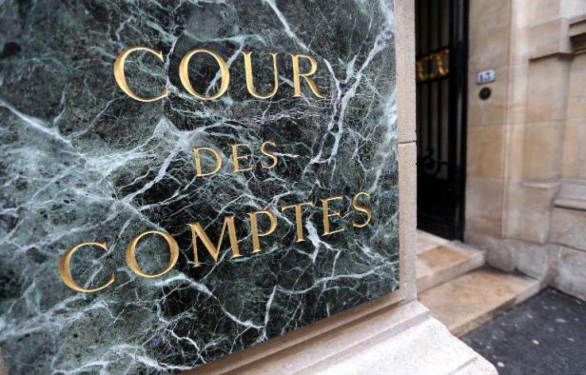 La façade de la Cour des comptes à Paris, le 22 janvier 2013 – Thomas Samson AFP