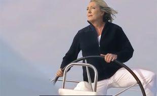 Capture d'écran du clip de campagne  «Au nom du peuple» de Marine Le Pen.