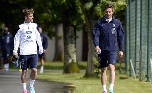 Antoine Griezmann et Olivier Giroud à Clairefontaine, en mai 2014