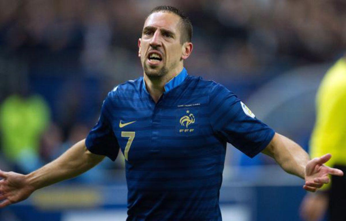 Franck Ribéry lors du match entre la France et la Finlande le 15 octobre 2013. – PDN/SIPA