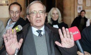 Charles Enderlin au palais de justice de Paris le 14 novembre 2007.