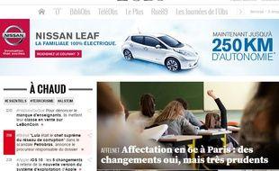 Le site internet de «L'Obs» (image d'illustration).