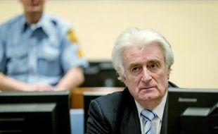 L'ancien chef politique des Serbes de Bosnie Radovan Karadzic, lors de son procès devant le TPIY à La Haye, aux Pays-Bas le 24 mars 2016