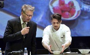 Sebastien Demorand (à gauche) pendant le «World Omnivore Tour» à Paris