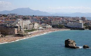 L'océan Atlantique, depuis la plage de Biarritz (Pyrénées-Atlantiques).