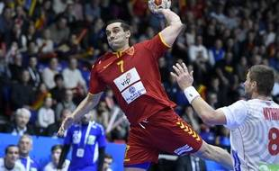 Kiril Lazarov, lors du mondial de handball disputé en France en janvier 2017.
