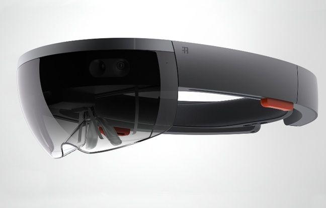 Le casque de réalité augmentée de Microsoft HoloLens.