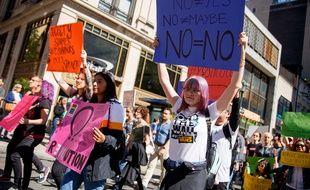 Une marche contre les violences sexuelles à Philadelphie (Etats-Unis), le 29 septembre 2018.