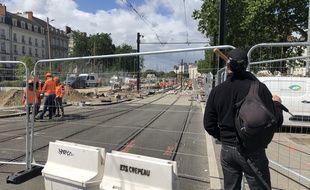 A Nantes, le 6 juillet 2021. La station Commerce est en travaux jusqu'à fin août.