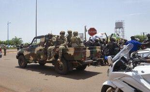 Des troupes maliennes à Bamako, la capitale.