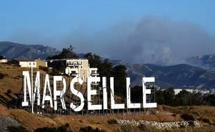 Un incendie s'est déclenché dans les Calanques, près de Marseille, le 5 septembre 2016.