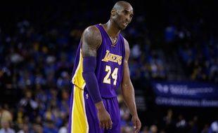 La star des Los Angeles Lakers Kobe Bryant, le 1er novembre 2014 contre les Golden State Warriors.