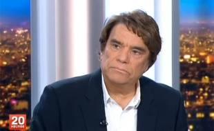 Bernard Tapie sur le plateau du JT de France 2 le 1er juillet 2013 (capture d'écran).