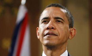 Le président Barack Obama au G20 à Londres le 1er avril 2009