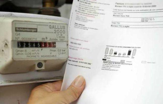 Un compteur à gaz et une facture en juin 2010.