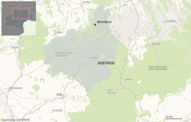 La commune de Montézic en Aveyron.