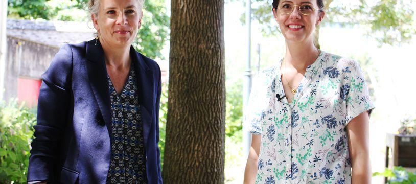 La candidate écologiste aux élections régionales Claire Desmares-Poirrier a reçu la visite de Delphine Batho ce lundi à Rennes.