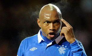 El Hadji Diouf, à l'époque sous le maillot des Rangers en février 2011, est désormais au club de Doncaster.