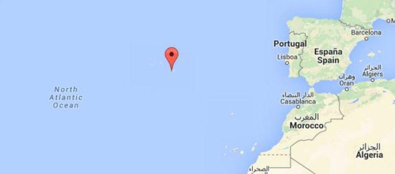 Google Maps des Açores.