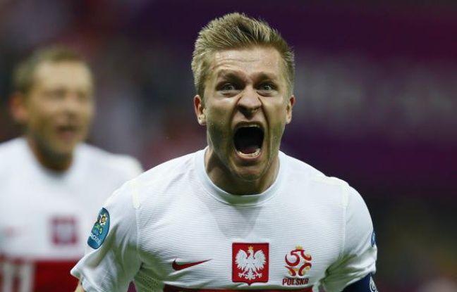 Jakub Blaszczykowski après son but contre la Russie, le 12 juin 2012 à Varsovie.