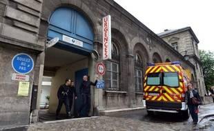 L'entrée des urgences à l'Hôtel-Dieu à Paris, le 16 mai 2013