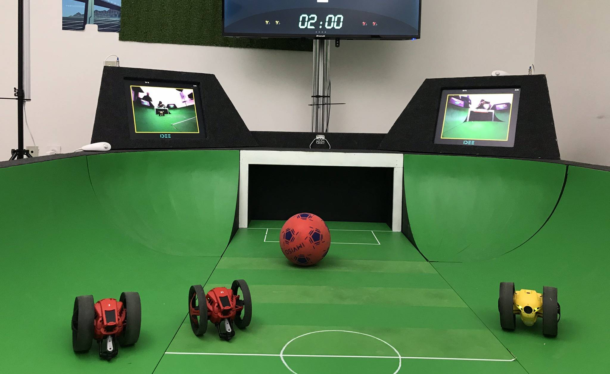 Les rencontres de e-foot durent le plus souvent 2 minutes.