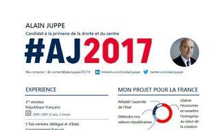 Une capture d'écran d'une partie du CV d'Alain Juppé imaginé par notre contributeur Gilles Payet