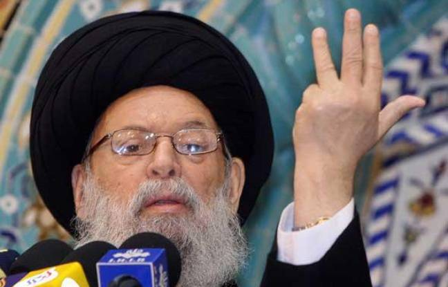 Le grand ayatollah chiite Mohammad Hussein Fadlallah le 20 décembre 2007 à Beyrouth, au Liban.