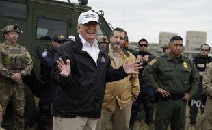 Donald Trump s'est rendu à la frontière avec le Mexique, au Texas, le 10 janvier 2019.